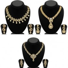 Deals, Discounts & Offers on Earings and Necklace - Sukkhi Glimmery Necklace Set Combo