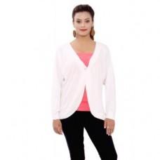 Deals, Discounts & Offers on Women Clothing - Sml Originals White Plain Jacket