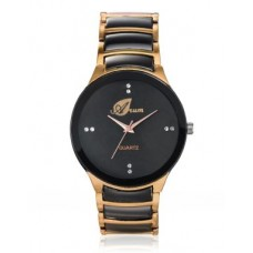 Deals, Discounts & Offers on Men - Arum Black & Copper Dial  Analog Watch
