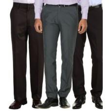 Deals, Discounts & Offers on Men Clothing - Merakapda Pack Of 3 Formal Trouser For Men