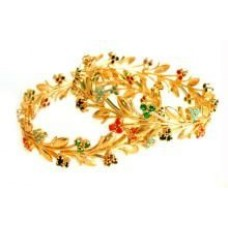 Deals, Discounts & Offers on Women - 22crt Gold Forming Ethnic Navratna Kada