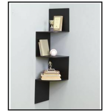 Deals, Discounts & Offers on Home Decor & Festive Needs -  Home Sparkle Black Wooden Corner Wall Shelves @ Rs. 799