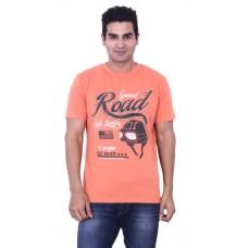 Deals, Discounts & Offers on Men Clothing - Wrangler Orange Cotton T-Shirt