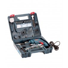 Deals, Discounts & Offers on Home Improvement - Bosch universal tool kit containing 10 mm drill + 100 pcs accessories - GSB 10 RE Professional