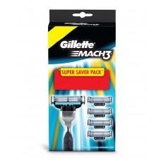 Deals, Discounts & Offers on Health & Personal Care - Gillette Mach3 Manual Razor Blades 4s pack + 1 Mach3 Manual Razor