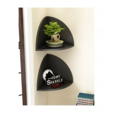 Deals, Discounts & Offers on Home Decor & Festive Needs - Trendy Ile Black Corner Wall Shelves
