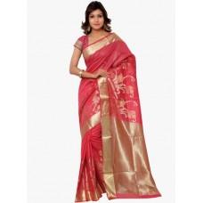 Deals, Discounts & Offers on Women Clothing - Varkala Silk Sarees Red Printed Saree