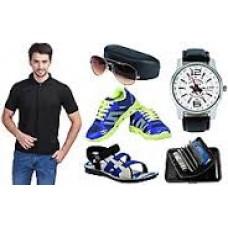 Deals, Discounts & Offers on Men - Eprilla Combo Of Men T Shirt, Sandals, Shoes With Accessories