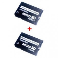 Deals, Discounts & Offers on Mobile Accessories - 2 Pieces - Micro SD Card To Memory Stick Ms Pro Duo Adapter / Convertor
