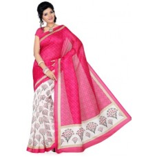 Deals, Discounts & Offers on Women Clothing - Ishin Printed Bhagalpuri Art Silk Sari