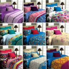 Deals, Discounts & Offers on Home Decor & Festive Needs - Superspun Easy Home Pack of 9 Double Bedsheet Set