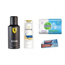 Deals, Discounts & Offers on Health & Personal Care - Flat 82% off on Combo of Ferrari Deo + Pantene + Dettol Soap + Colgate