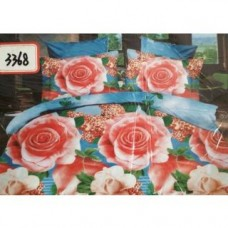 Deals, Discounts & Offers on Home Decor & Festive Needs - Flat 87% off on k decor 3D double bedsheet with 2 pillow covers
