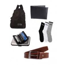 Deals, Discounts & Offers on Men - Combo Of Elligator Foldable Bag with belt,Wallet,CardHolder And Puma Socks