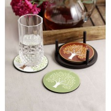 Deals, Discounts & Offers on Home & Kitchen - Stybuzz Enchanting Trees MDF Coasters - Set Of 4