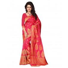 Deals, Discounts & Offers on Women Clothing - London Beauty RED Art Silk Saree