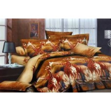 Deals, Discounts & Offers on Home Decor & Festive Needs - Jazz Multicolor Polycotton Double Bedsheet With 2 Pillow Covers