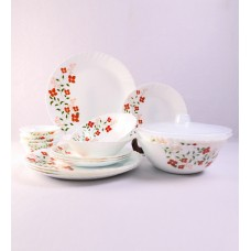 Deals, Discounts & Offers on Home & Kitchen - Larah by Borosil Janus White Opal Glass 18