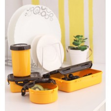 Deals, Discounts & Offers on Home & Kitchen - Lock 'N Lock Yellow Plastic Container