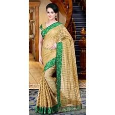 Deals, Discounts & Offers on Women Clothing - Shonaya Beige Printed Saree Hikbrmamtag