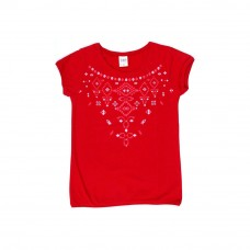 Deals, Discounts & Offers on Kid's Clothing - Tales and Stories Embroide Look Cotton T-Shirt,