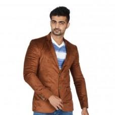 Deals, Discounts & Offers on Men Clothing - EASIES Brown Long Sleeve Coat For MenEJ-306 BIJOU FSBLZR BRW