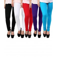 Deals, Discounts & Offers on Women Clothing - PI World Multicoloured Cotton Lycra Leggings