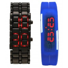 Deals, Discounts & Offers on Baby & Kids - Satnam Fashion Black and Blue Digital Watch