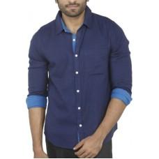 Deals, Discounts & Offers on Men Clothing - Aady Jones Men's Solid Casual Blue Shirt