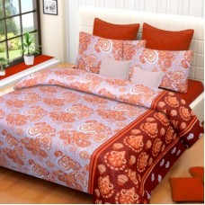 Deals, Discounts & Offers on Furniture - IWS Cotton Abstract Double Bedsheet