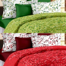 Deals, Discounts & Offers on Home Decor & Festive Needs - Bedspun Set of 2 Cotton Double Bedsheets With 4 Pillow Covers