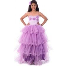 Deals, Discounts & Offers on Kid's Clothing - Gazel Vestire Girl's Gathered Purple Dress