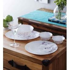 Deals, Discounts & Offers on Home Improvement - La Opala Dazzle Purple Opalware Dinner Set
