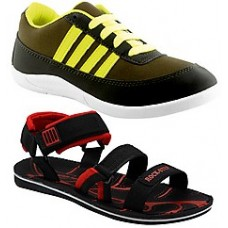 Deals, Discounts & Offers on Foot Wear - Rockstep Combo Of Men Causal Shoes & Sandals