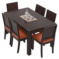 Deals, Discounts & Offers on Furniture - Ethnic India Art Vienna 6 Seater Sheesham Wood Dining Set With Table