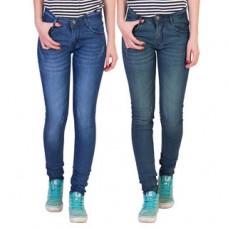 Deals, Discounts & Offers on Women Clothing - American-Elm Cotton Lycra Women's Jeans