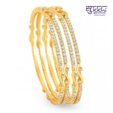 Deals, Discounts & Offers on Women - Sukkhi Gold Plated AD Stone bangles