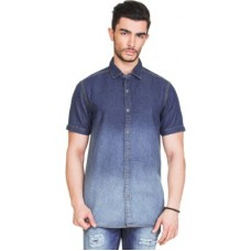 Deals, Discounts & Offers on Men Clothing - Zovi Men's Solid Casual Blue Shirt