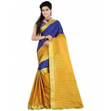 Deals, Discounts & Offers on Women Clothing - Fashion Designer Sarees Yellow Cotton Saree