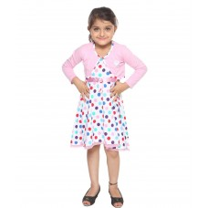 Deals, Discounts & Offers on Kid's Clothing - Lil Orchids Pink Cotton Polka Dots Printed