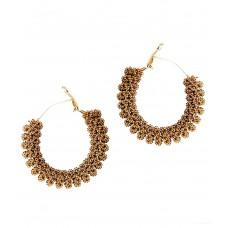 Deals, Discounts & Offers on Women - Pretty Swirly Wire Twisted Hooped Bali Earring by GoldNera