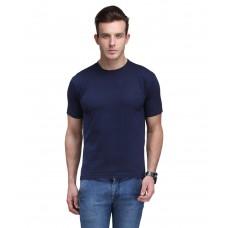 Deals, Discounts & Offers on Men - Scott International Navy Cotton Poly Viscose Regualr Fit T Shirt
