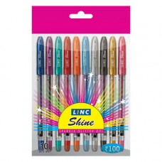 Deals, Discounts & Offers on Stationery - Linc Shine Glitter Gel Pen 10 pcs Pack