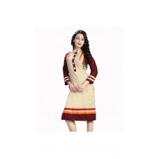 Deals, Discounts & Offers on Women Clothing - The Style Story Beige Designer Kurti