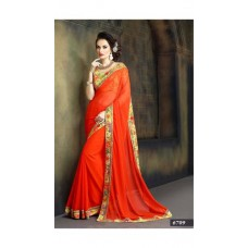 Deals, Discounts & Offers on Women Clothing - Indian Beauty Multi Color Georgette Sari