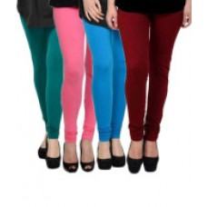 Deals, Discounts & Offers on Women Clothing - Elevate Women Multicoloured Lycra Leggings - Pack of 4