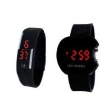 Deals, Discounts & Offers on Baby & Kids - Hacsona Black Digital Watch - Pack of 2
