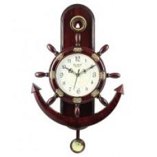 Deals, Discounts & Offers on Home Decor & Festive Needs - Plaza Brown Anchor Pendulum Wall Clock