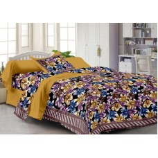 Deals, Discounts & Offers on Home Decor & Festive Needs - Story @ Home Cotton Floral Single Bedsheet