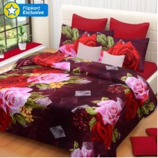 Deals, Discounts & Offers on Home Appliances - IWS Polyester 3D Printed Double Bedsheet